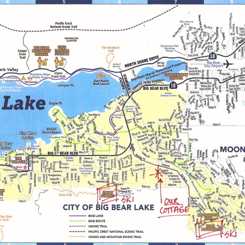 Cottage Location Map,#AfterOrangeCounty.com,VRBO.com/452020,#Big Bear Lake,#Ski