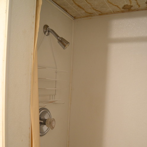 Shower, Pre-Renovation, #AfterOrangeCounty.com, #VRBO.com/452020, #Big Bear Lake