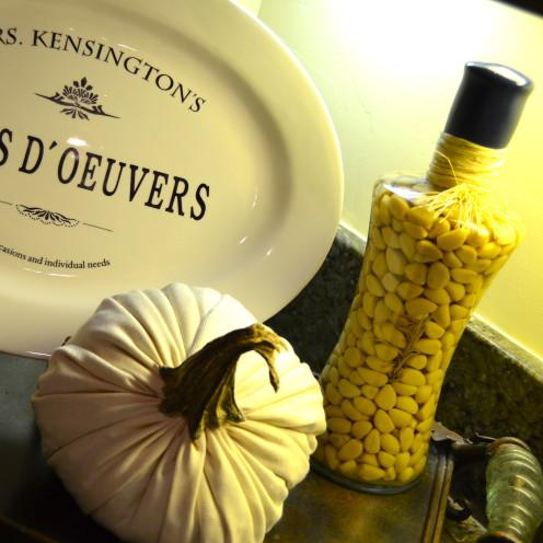 #Handmade Cloth Pumpkins with Natural Stems #AfterOrangeCounty.com #Fall Decor