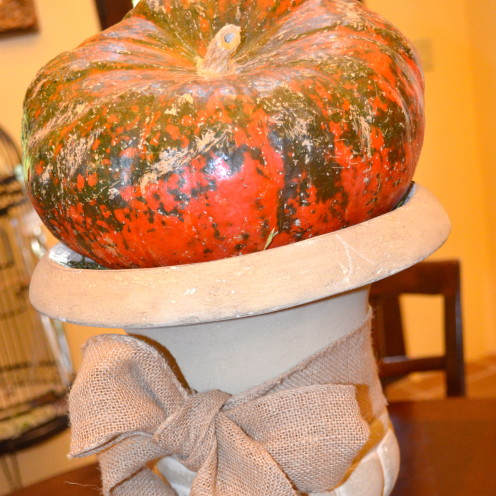#Handmade Cloth Pumpkins with Natural Stems #AfterOrangeCounty.com #Fall Decor