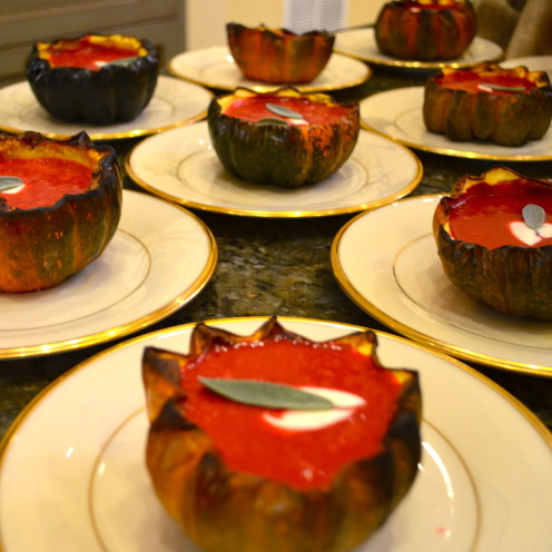 #Beet Soup in Roasted Acorn Squash Bowls,#AfterOrangeCounty.com