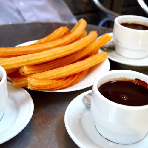 CHOCOLATERIA SAN GINES - CHURROS & CHOCOLATE IN MADRID, SPAIN | www.AfterOrangeCounty.com