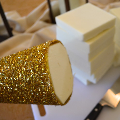 DIY Golden Christmas Decoration Tutorial | www.AfterOrangeCounty.com