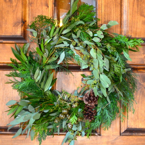 Learn HowTo Make Your Own Christmas Wreath- DIY TUTORIAL With Former Supermodel Nancy Hunter Corbett