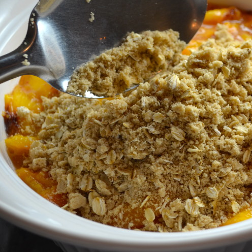 Peach Crisp, www.AfterOrangeCounty.com