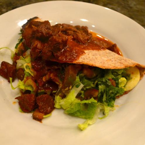 Quesadillas with Chili Colorado | Recipe By www.AfterOrangeCounty.com