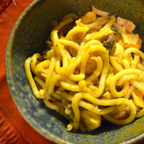 UDON NOODLES WITH CURRIED CHICKEN | Recipe By www.AfterOrangeCounty.com
