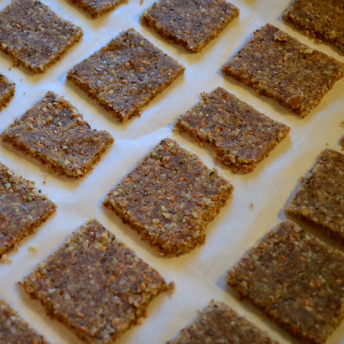 ALMOND MEAL, HEMP, FLAX & CHIA SEED CRACKERS | Recipe By www.AfterOrangeCounty.com