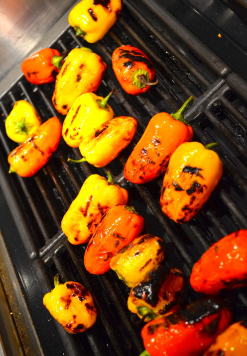 A SURPRISINGLY SIMPLE WAY TO IMPRESS YOUR DINNER GUESTS | Grilled Mini Peppers Filled with Herbed Cheese Recipe | www.AfterOrangeCounty.com