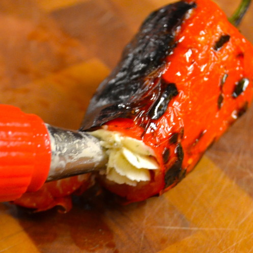Grilled Mini Peppers Stuffed With Herbed Cheese | Recipe By www.AfterOrangeCounty.com