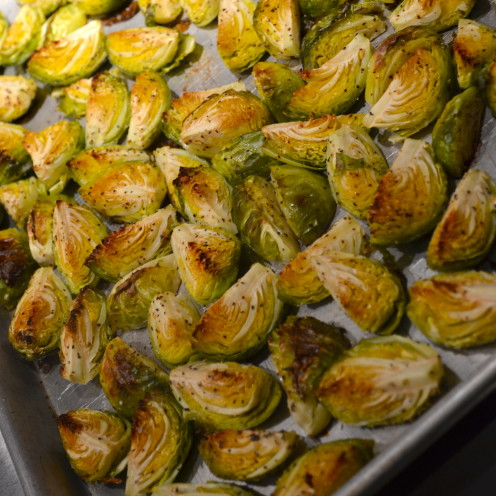 Roasted Brussel Sprouts with Lemon Garlic Allioli | By www.AfterOrangeCounty.com