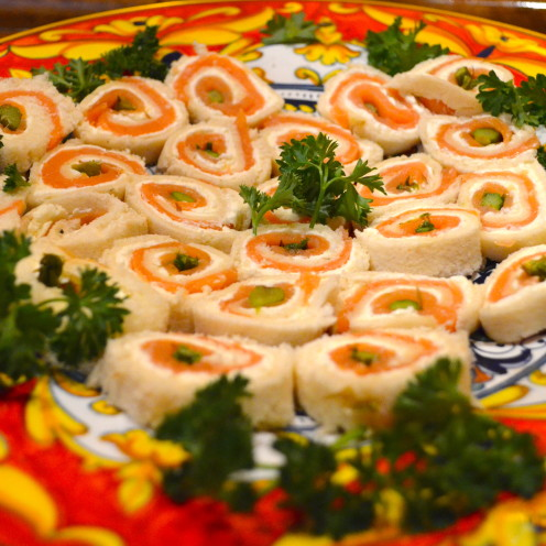 Smoked Salmon & Asparagus Pinwheels | www.AfterOrangeCounty.com