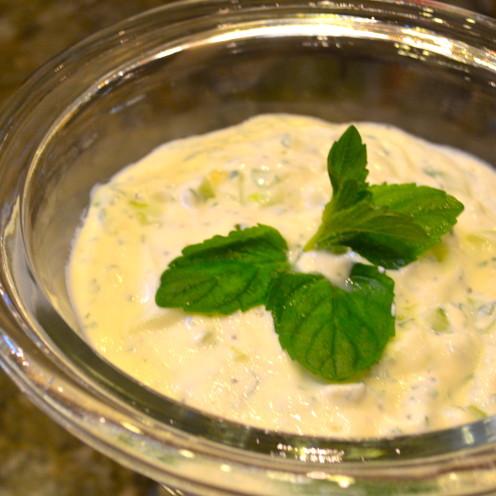 Cucumber - Mint Yogurt Sauce Recipe   Celebrating Spring with a Typical Nowruz Feast   www.AfterOrangeCounty.com