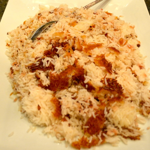 """Chelo"" or Crispy Persian Rice Recipe 