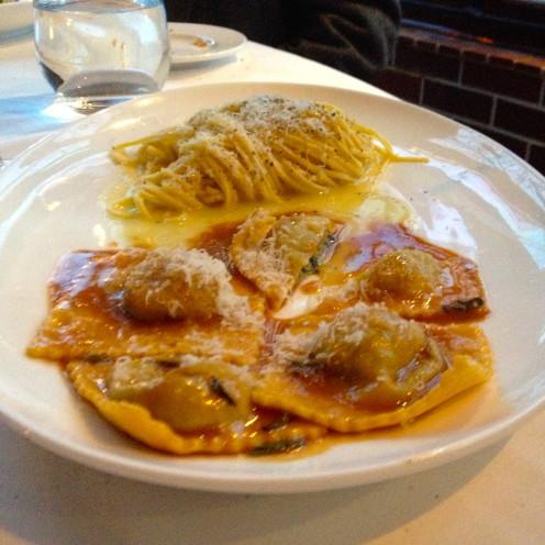 Veal Ravioli & Cacio e Pepe | Cafe Milano, DC | www.AfterOrangeCounty.com