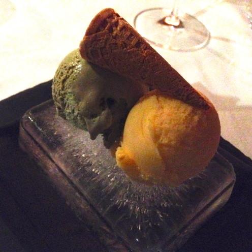 Pistacio Ice Cream & Mango Sorbet | Cafe Milano | www.AfterOrangeCounty.com