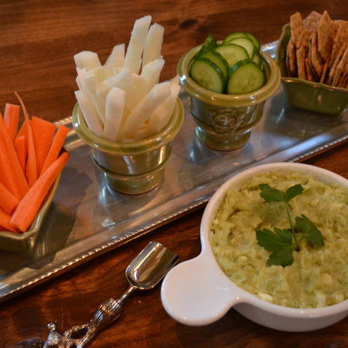 Lima Bean Dip with Garlic & Feta Cheese | A Birthday Dinner Party | www.AfterOrangeCounty.com