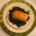 PHYLLO WRAPPED WILD SALMON WITH SPINACH
