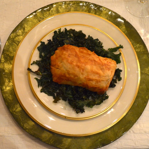 Filo Wrapped Wild Salmon with Spinach | www.AfterOrangeCounty.com