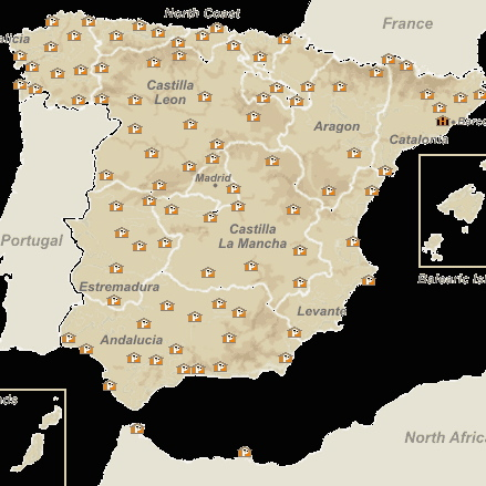Paradors of Spain, location map | www.AfterOrangeCounty.com
