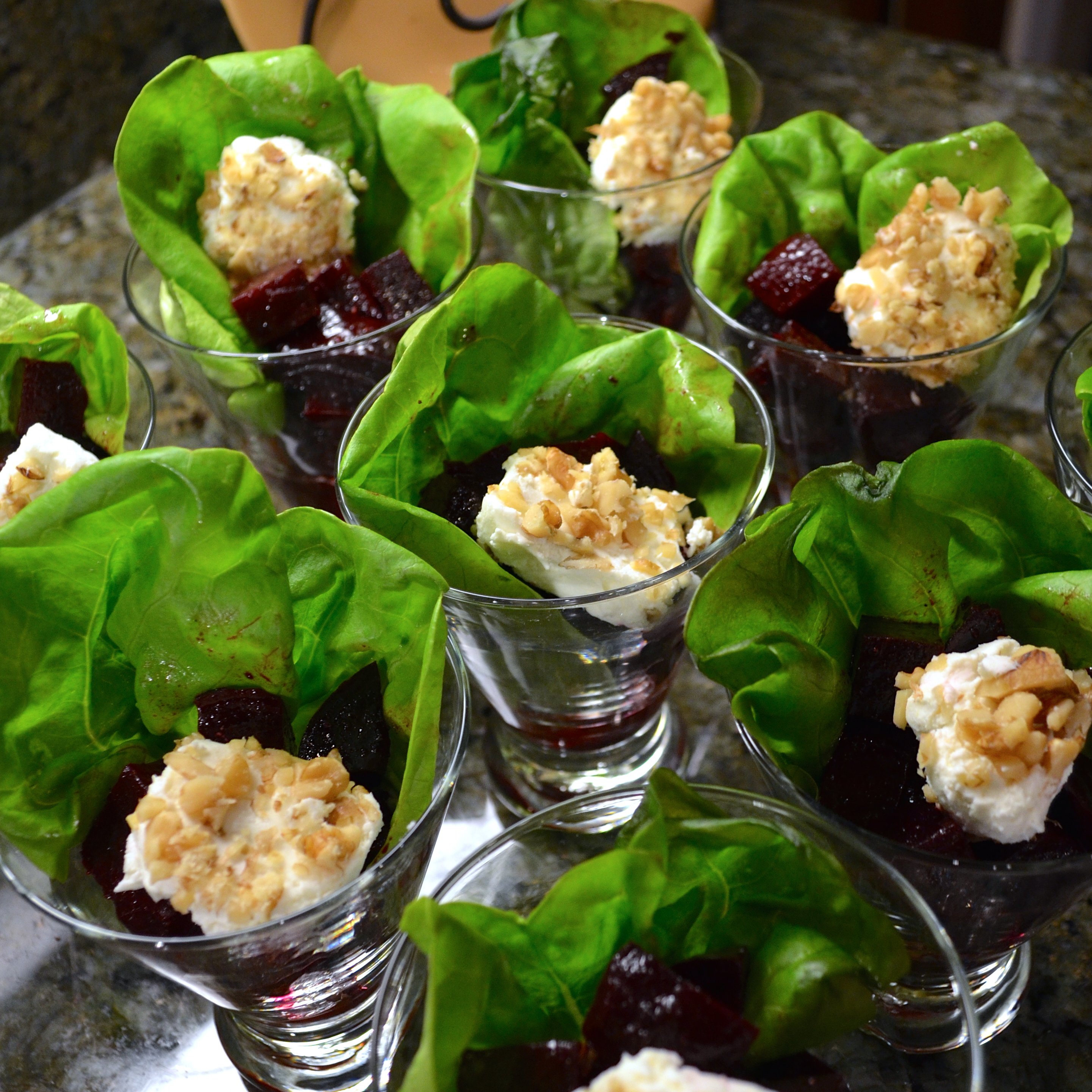 ... celebration a farm to table beet salad with goat cheese and walnuts