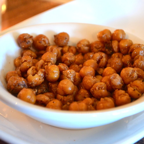 GARBANZOS: crispy chickpeas with moorish spices | www.AfterOrangeCounty.com