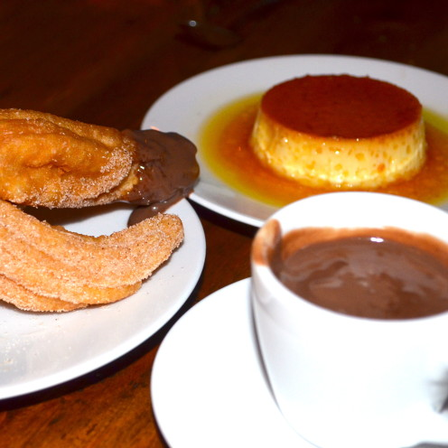Flan & Churros con Chocolate | www.AfterOrangeCounty.com