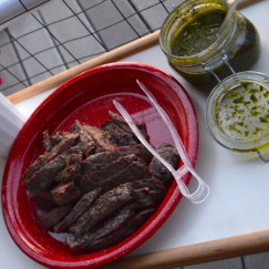 Flap Steak with Chimichurri Sauce | www.AfterOrangeCounty.com