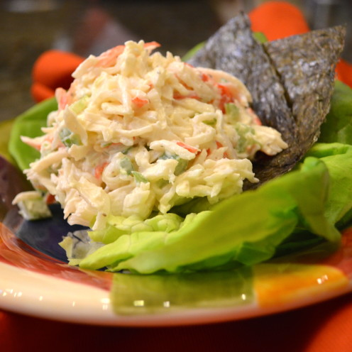 Crab Salad Recipe | A Lakeside Dinner of Sea Vegetables | www.AfterOrangeCounty.com
