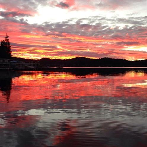 Sunset on Lake Arrowhead   www.AfterOrangeCounty.com