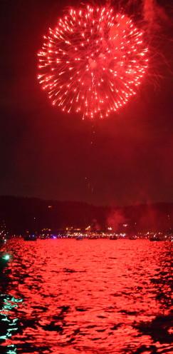Fireworks over Lake Arrowhead | www.AfterOrangeCounty.com