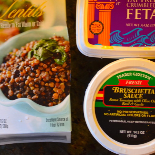 TRADER JOE'S BRUSCHETTA, LENTIL & FETA CHEESE DIP RECIPE | www.AfterOrangeCounty.com