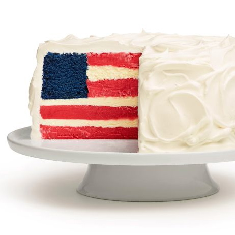 Ice Cream Flag Cake | A PINTEREST 4TH OF JULY | www.AfterOrangeCounty.com