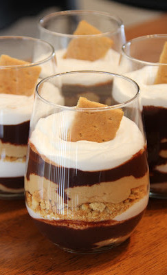 20 WAYS TO CELEBRATE NATIONAL S'MORES DAY | www.AfterOrangeCounty.com | Chocolate Peanut Butter Parfait