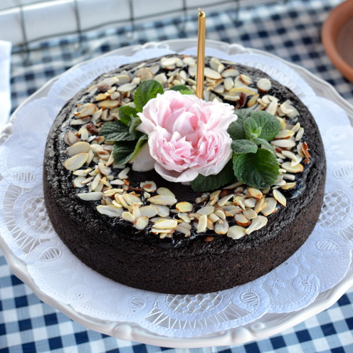 Chocolate Quinoa Cake | A BIRTHDAY DINNER ON THE DOCK | By AfterOrangeCounty.com | A Lifestyle Blog