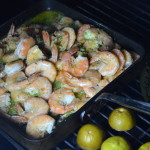 GRILLED SHRIMP WITH LIME-CILANTRO BUTTER