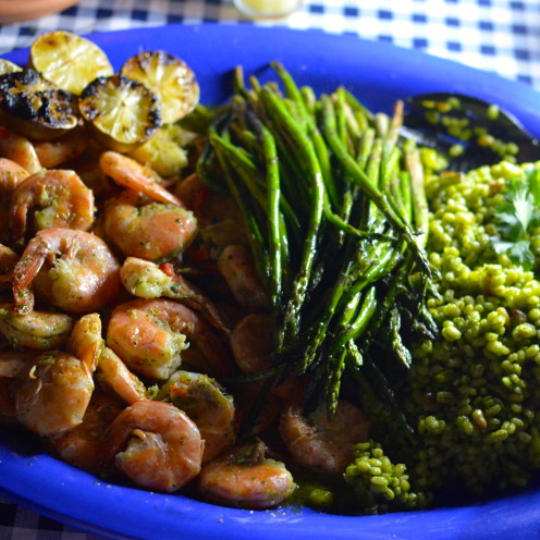 GRILLED SHRIMP WITH LIME-CILANTRO BUTTER | Recipe By Celia from www.AfterOrangeCounty.com | A Lifestyle Blog