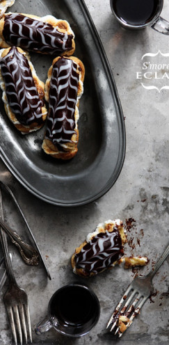20 WAYS TO CELEBRATE NATIONAL S'MORES DAY | www.AfterOrangeCounty.com | S'mores-Eclair | Via Bakers Royale