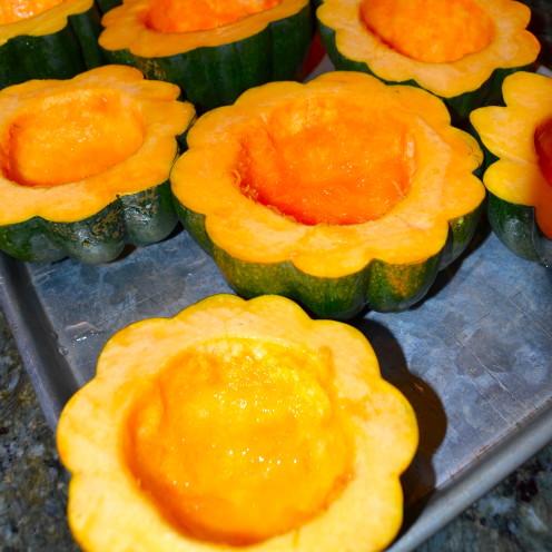 Acorn Squash & Sweet Potato Bisque Recipe | www.AfterOrangeCounty.com