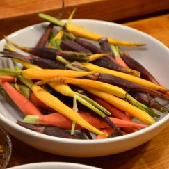 Tri Colore Carrots | GIRLS NIGHT WITH A GREAT PERSONAL CHEF | www.AfterOrangeCounty.com