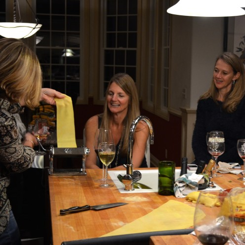 Fresh Semolina Tagliatelle | GIRLS NIGHT WITH A GREAT PERSONAL CHEF | www.AfterOrangeCounty.com