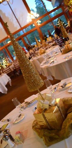 DIY Golden Christmas Tree Centerpieces | A Tutorial @ www.AfterOrangeCounty.com