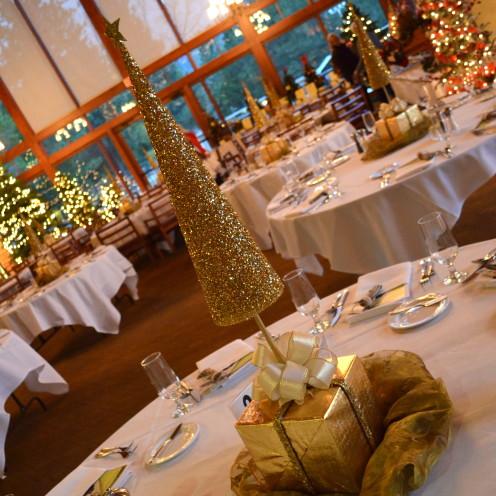 DIY Golden Christmas Tree Centerpieces | A Tutorial @ www.AfterOrangeCounty.com
