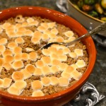 SWEET POTATO CASSEROLE WITH PECAN CRUMBLE