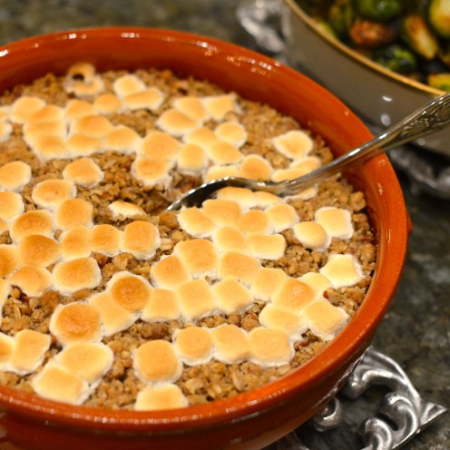SWEET POTATO CASSEROLE WITH PECAN CRUMBLE RECIPE | www.AfterOrangeCounty.com