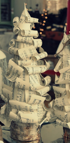 VINTAGE SHEET MUSIC CHRISTMAS TREES | A Tutorial @ www.AfterOrangeCounty.com | The OC Housewife Who Ran for the Hills