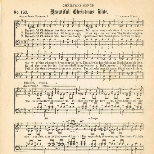 Printable Christmas Sheet Music | www.AfterOrangeCounty.com