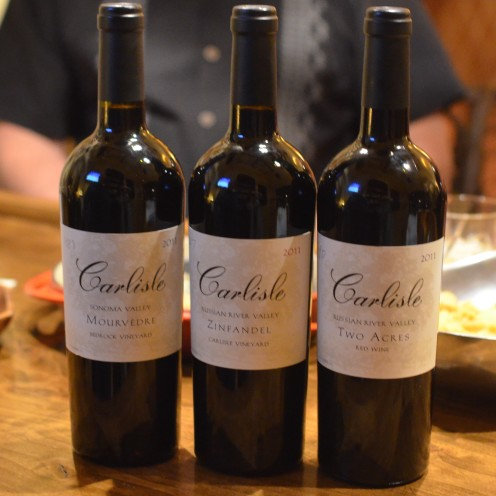 Flight of Carlisle Old Vine Wines | www.AfterOrangeCounty.com