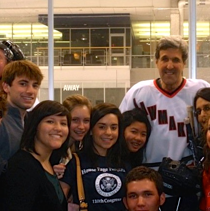 111th Congress House Pages with John Kerry | www.AfterOrangeCounty.com