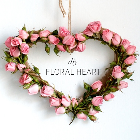 DIY Floral Heart by A Pair & a Spare